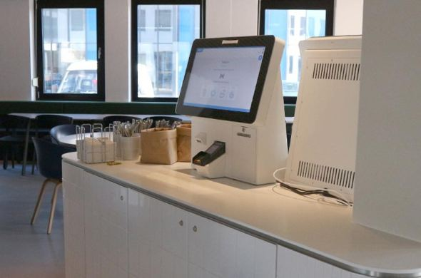 Self service kiosks for ISS Catering Services