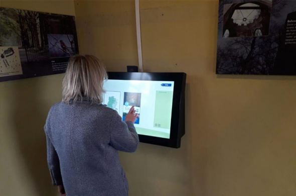 Custom touchscreen with integrated webcam
