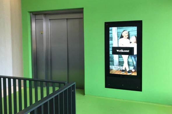 Touchscreens and displays for Leidsche Rijn Center